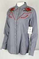 Ariat Real Women's Lively Snap Shirt Long Sleeve Western Dark Denim 10026604