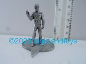 "Star Trek the Next Generation Rawcliffe Pewter 1993 Picard of/2400 2.5"" Figurine"