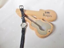 THE BEATLES SGT PEPPER'S LONELY HEARTS CB APPLE WATCH WOODEN GUITAR SHAPED CASEE