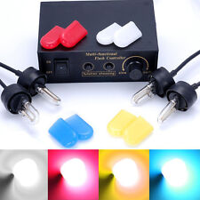 4 Color HID Xenon Strobe Flash Lights White Emergency Warn Lamps + Control Box
