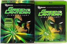 DC COMICS GREEN LANTERN FIRST FLIGHT BLU RAY + RARE OOP SLIPCOVER & GREEN CASE