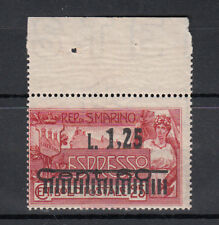 1927 SAN MARINO ESPRESSO NUOVO DA 1,25 SU 60 C ROSSO CENTRATO SS.  E6 VEDI FOTO