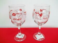 Pair Of Valentine's Day Wine Or Champagne  Glasses - NEW WITH TAGS