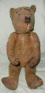 "ANTIQUE GOLDEN MOHAIR FULLY JOINTED 16"" TEDDY BEAR"