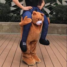 HALLOWEEN TEDDY BEAR CARRY MASCOT COSTUME RIDE ON PIGGY BACK PANT ADULT DRESS