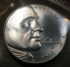 "2005 P D Jefferson Nickel ""Buffalo"" 2 Satin Finish Mint Coin's"