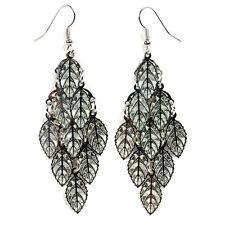 SHIMMERING DANGLE EARRINGS Leaf Chandelier Gypsy Arabic Hook NEW Pair Jewelry