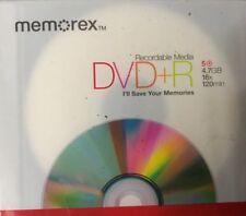 Memorex DVD+R 16x 120 MIN 4.7GB 16x In Jewel Cases 20 Pack