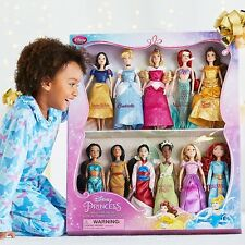 Disney Classic 11 Princess Doll Collection Barbie Gift Set Mulan Jasmine Arie +