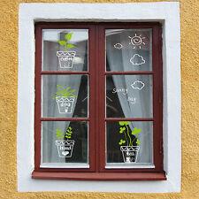 Glass Window Sticker Paper Vinyl Art Balcony Decal Flower Plant Pot Decoration