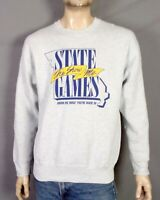 vtg 80s 90s FOTL Heavy retro The Show Me State Games Sweatshirt 1992 MO sz L