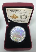 $20 Fine Silver Interconnections Land The Beaver Hologram Canada RCM Coin