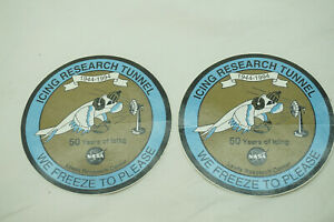 NASA PATCH ICING RESEARCH TUNNEL LEWIS RESEARCH CENTER 50 YEARS LOT OF 2 1994