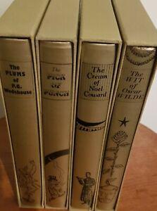Joblot Folio Society Books X4 With Slipcases Bundle The Wit Of Oscar Wilde