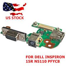DC POWER JACK PORT VGA USB 2.0 IO BOARD For DELL INSPIRON 15R N5110 PFYC8