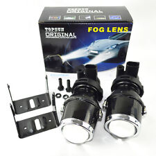 Safego 2X Glass Metal Universal H3 Xenon HID Projector Fog Lights Projector Lens