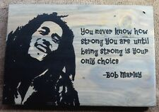 Handmade Reclaimed Wood Pallet Sign Bob Marley Theme Wall Hanging Sign Plaque
