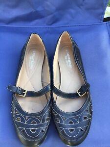 Ladies Naturaliser N5 Comfort Shoe Black Leather Flat Sz 6 Euro 37. New RRP $100