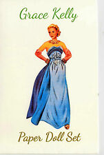 Grace Kelly Barbie avec 5 robes paper doll set the shackman collection