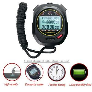 Handheld Stopwatch Digital Chronograph Sports Training Counter Timer Stop Watch