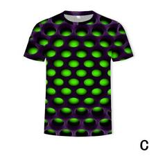 Funny Hypnosis 3D T-Shirt Men Women Colorful Print Casual Short Sleeve Top New