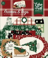Echo Park A COZY CHRISTMAS Frames & Tags Ephemera Die Cut Pieces 33pc ACC189025