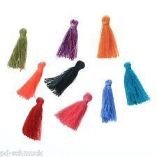 10 Mix Zufällig Quaste Seide Kappe Tassel Baumwolle Troddel Anhänger 3cm