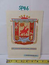 ST LOUIS MUNICIPAL OPERA PROGRAM MAGAZINE 1960 ALONE IN ITS GREATNESS-COAT ARMS