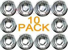"10 Pack Estate Norge KitchenAid Stove 6"" Chrome Drip Pan Bowl W10196406Rw"