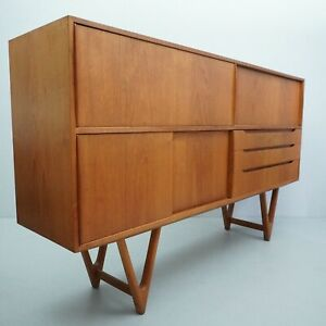 Vintage 50s Teak Sideboard Kurt Østervig For a / S Randers Møbelfabrik G. Aio