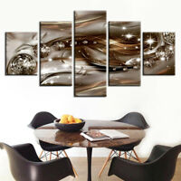 Exquisite Diamond Abstract 5 panel canvas Wall Art Home Decor Print Poster