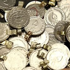 50 real *Heart* COINS Tribal BellyDance ATS Kuchi (( polished )) HEART