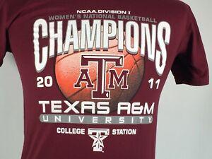 Texas A&M National Champions Womens College Basketball NCAA 2011 Small T-shirt