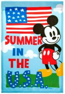 Disney Mickey Mouse USA Garden Flag 4th of July  12.5 X 18""