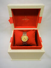 Ladies Omega De Ville Quartz Watch 18ct Gold and Stainless Steel.