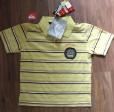 Quiksilver Boys T Shirt & Sticker Aged 4 Yellow Surf Dude NEW Stripes