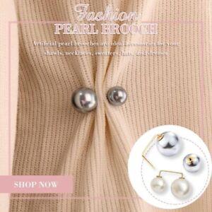 3PCS Fashion Pearl Brooch Fashion Pearl Brooch - Women Lapel Anti-Glare Safety