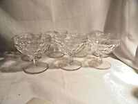 "7 Whitehall Depression Glass Sherbets 3.5"" tall Mint Indiana"