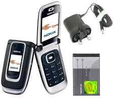 New Condition Nokia 6131 Black Flip Fold Big Button Big Screen Big Font  Phone