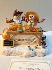 LENOX COLLECTION THE LEMONADE STAND SNOWMAN SCULPTURE BY LYNN BYWATERS