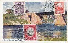 D.  Ansichtskarte Lettland   Ogre - Eisenbahnbrücke  1936