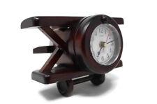 🔴 Vintage Wood Airplane Clock Stimex Quartz Canadian Maple Plane Japan Movement