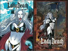 LADY DEATH HC Hardcover Vol 1 & 2 set $74.98srp  Signed 3x  Limited to 1000  NEW