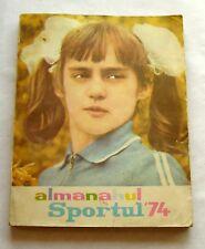 h938 Romania Almanah 1974 Nadia Comaneci perfect 10 gymnast on cover magazine