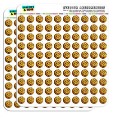 """Chocolate Chip Cookie 0.5"""" Scrapbooking Crafting Stickers"""