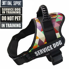 Service Dog Control Harness Vest Patches Emotional Support Therapy Dog Training