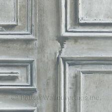 Wood Panel Wallpaper Cream, Blue, Grey Norwall Wallcovering LL36214