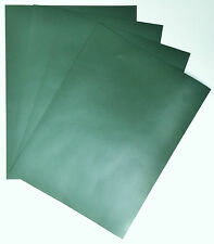 GOATSKIN LEATHER, 4 @ 20CM X 15CM FOREST GREEN 0.6 mm, IDEAL FOR BOOKBINDING