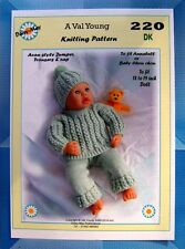 """DOLLS KNITTING PATTERN for 18""""/19"""" inch for Annabell No 220 by Daisy-May"""