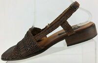 Sesto Meucci Woven Slingback Sandals Brown Closed Toe Comfy Shoes Womens US 10 M